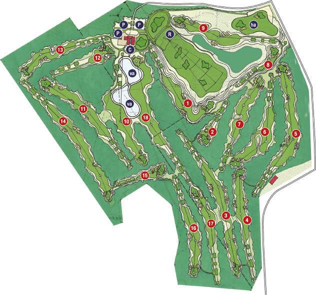 Alastaro Golf kenttäkartta