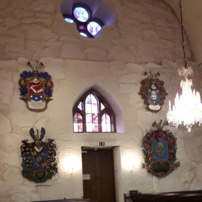 Lempäälän kirkon vaakunaseinä