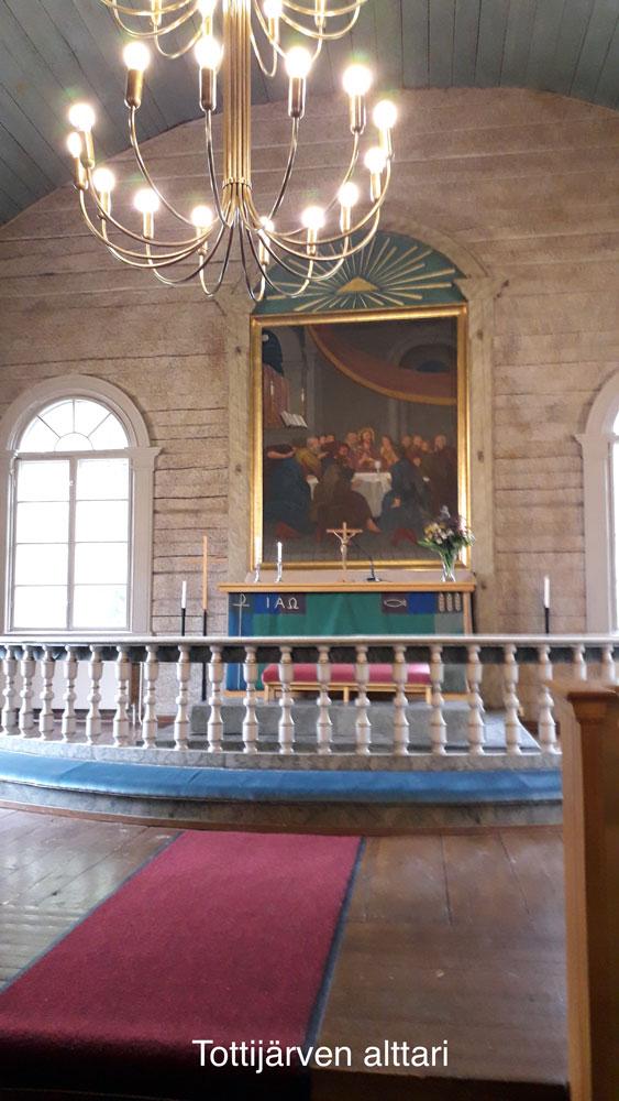 Tottijärven kirkon alttari
